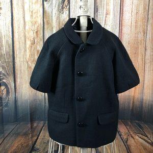 Banana Republic black short pea coat